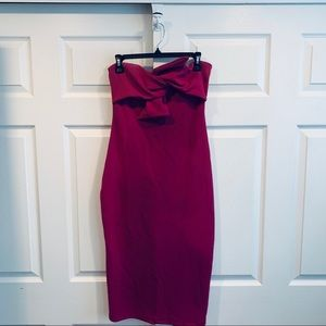 Topshop Dresses - Topshop Bow Twist Midi Dress Size US 8